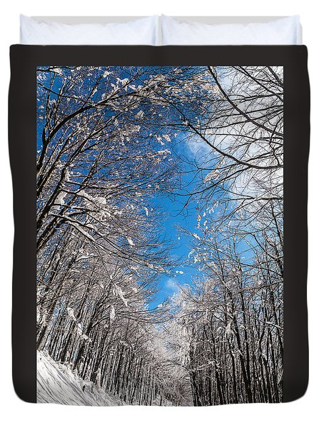 Winter Road Duvet Cover