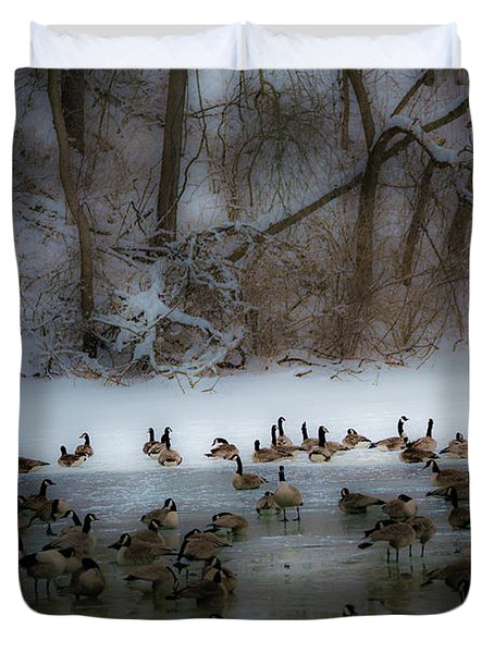 Winter Swim Duvet Cover