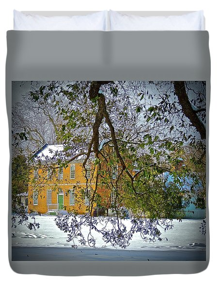 Duvet Cover featuring the photograph Winter White by Don Moore