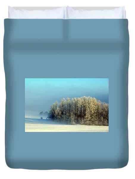 Winter's Heavy Frost Duvet Cover