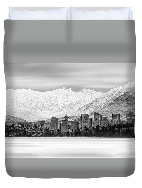 Winterscape Vancouver Duvet Cover