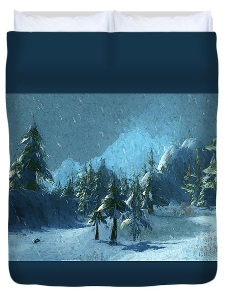 Winterspring Duvet Cover