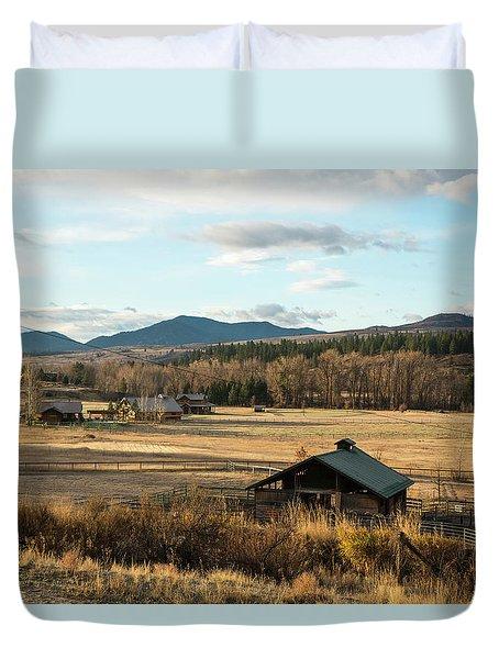 Winthrop Morning Pastures Duvet Cover