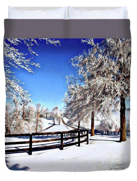 Wintry Lane Duvet Cover