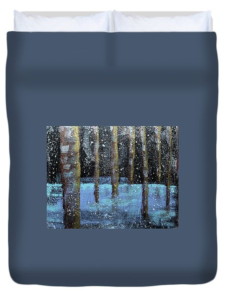 Wintry Scene I Duvet Cover