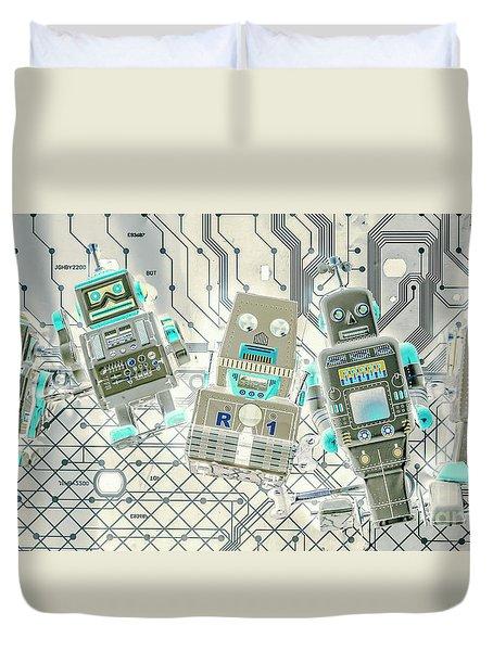 Wired Intelligence Duvet Cover