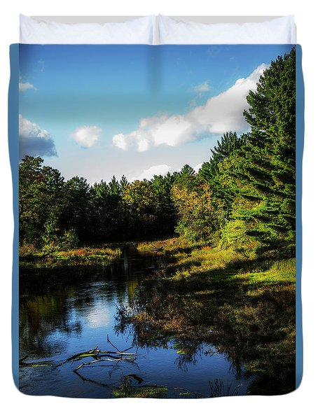 Wisconsin Waterscape Duvet Cover