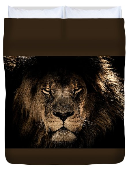 Wise Lion Duvet Cover