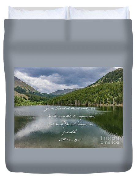 With God All Things Are Possible Duvet Cover