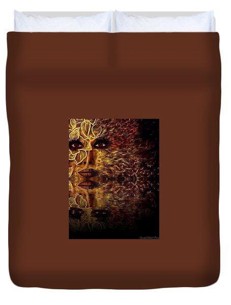 Wizard Of Flowers And Fire 1 Duvet Cover