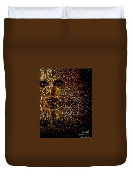 Wizard Of Flowers And Fire Duvet Cover