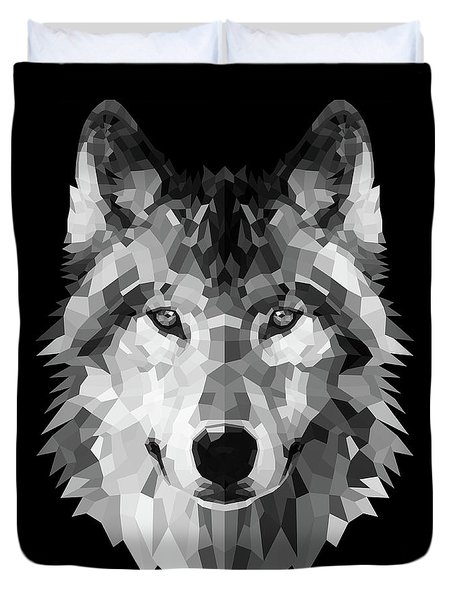Wolf's Face Duvet Cover