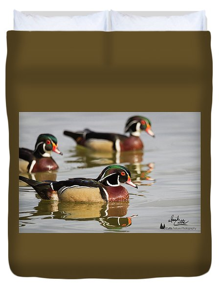 Wood Duck Threesome Duvet Cover