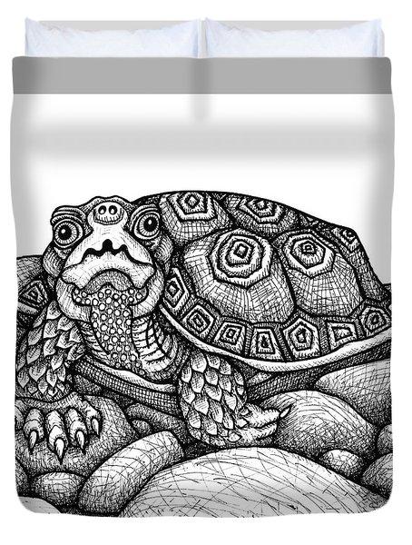 Wood Turtle Duvet Cover