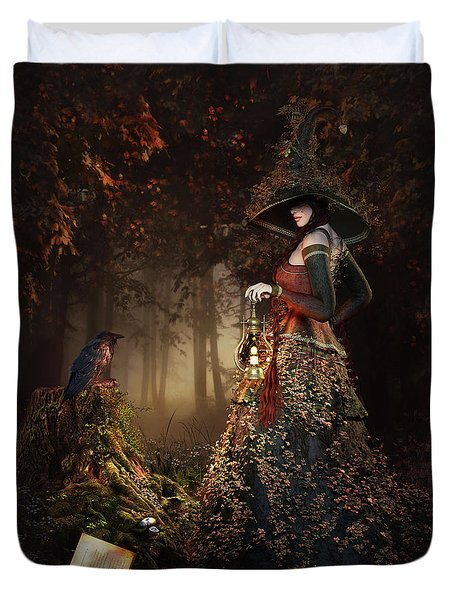 Wood Witch Duvet Cover