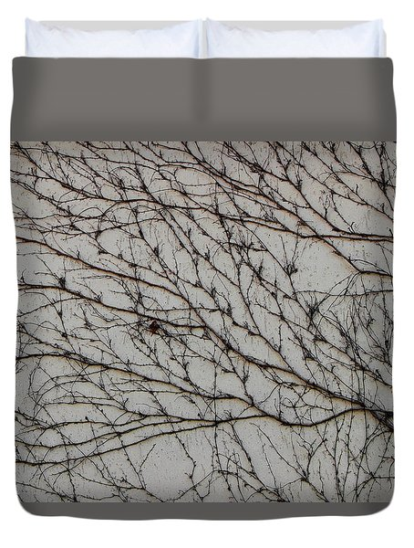 Duvet Cover featuring the photograph Woodbine by Attila Meszlenyi