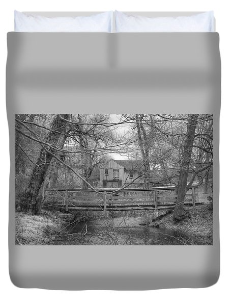 Wooden Bridge Over Stream - Waterloo Village Duvet Cover