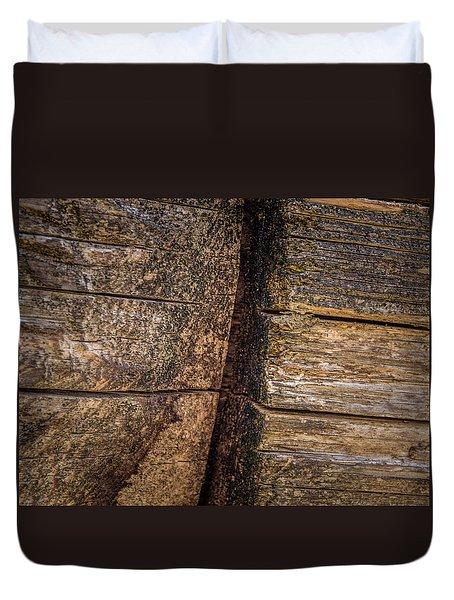 Wooden Wall Duvet Cover