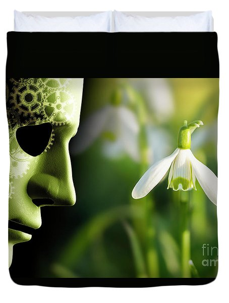 Working In Harmony Wth Nature Concept Duvet Cover