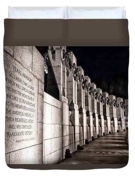 World War II Memorial Duvet Cover