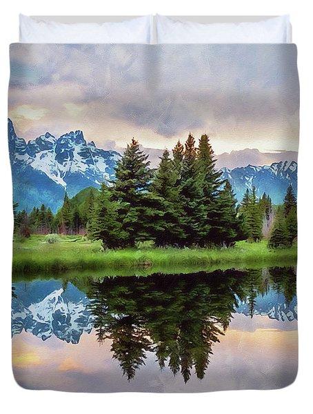 Wyoming, Grand Teton National Park - 02 Duvet Cover