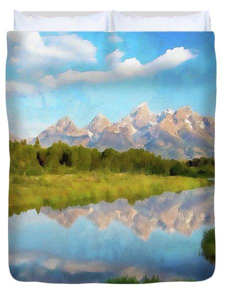 Wyoming, Grand Teton National Park - 04 Duvet Cover
