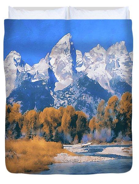 Wyoming, Grand Teton National Park - 05 Duvet Cover