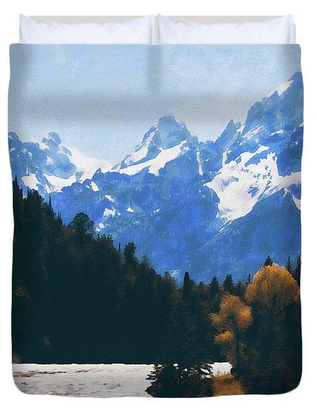 Wyoming, Grand Teton National Park - 09 Duvet Cover