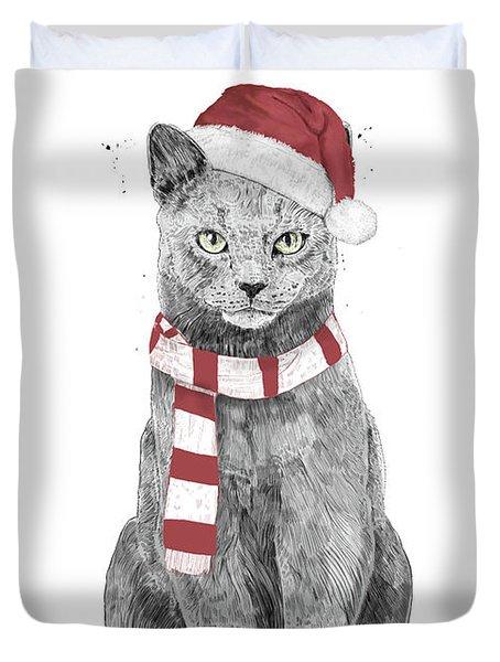 Xmas Cat Duvet Cover