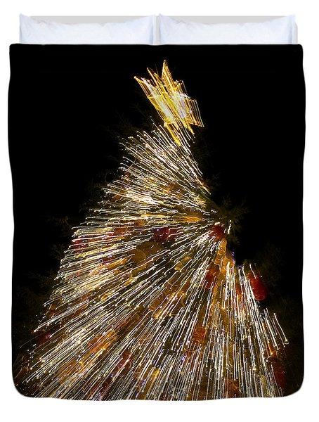 Xmas Tree Motion Art Duvet Cover
