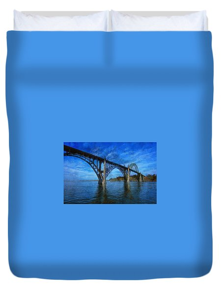 Yaquina Bay Bridge From South Beach Duvet Cover