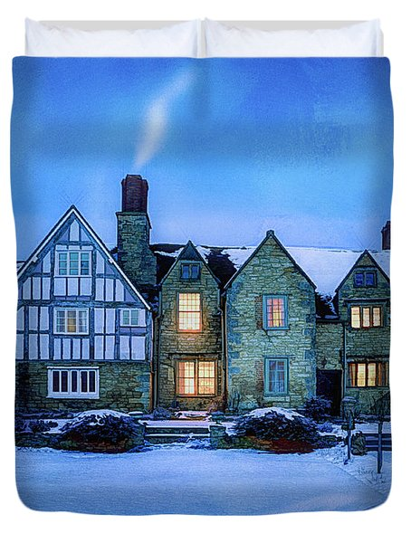 Duvet Cover featuring the photograph Ye Olde Manor by Edmund Nagele
