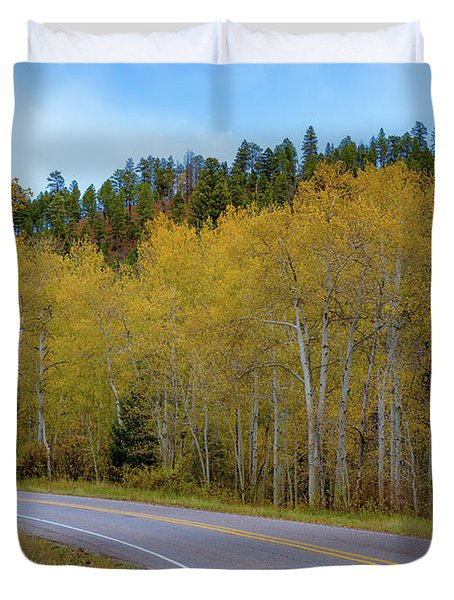 Yellow Aspens Duvet Cover