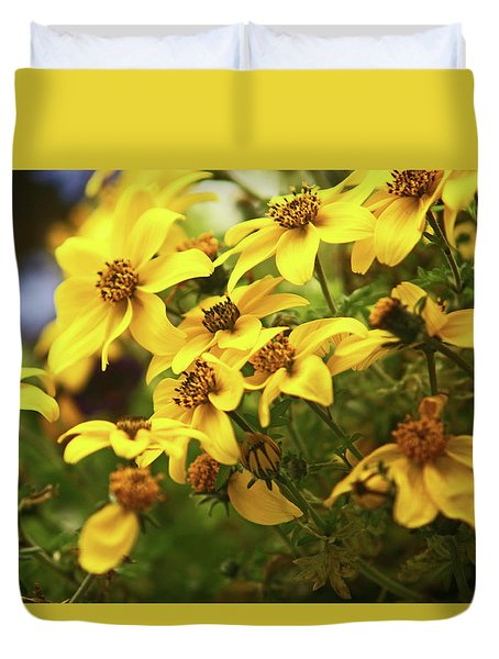 Yellow Bacopa Duvet Cover
