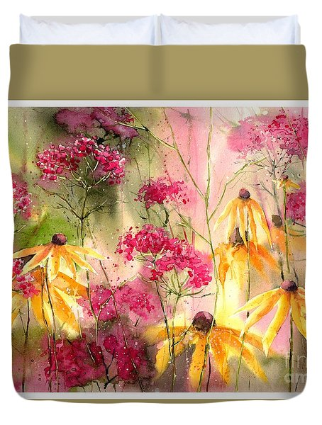 Yellow Ballerinas Duvet Cover