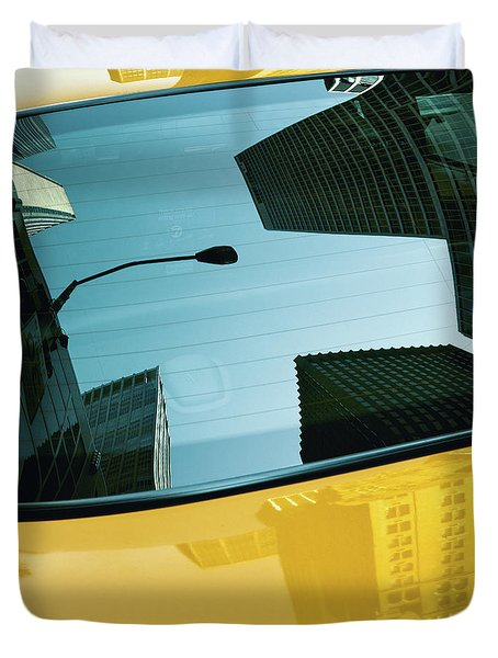 Yellow Cab, Big Apple Duvet Cover
