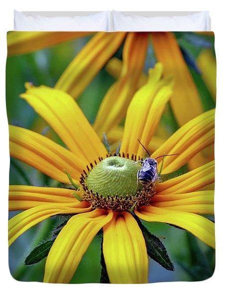 Yellow Flower Duvet Cover