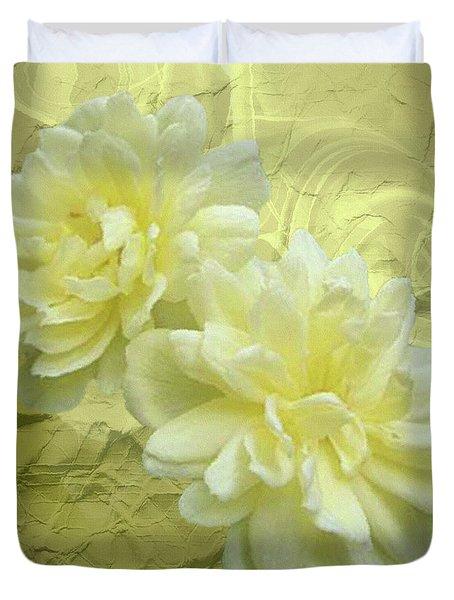 Yellow Foil Duvet Cover