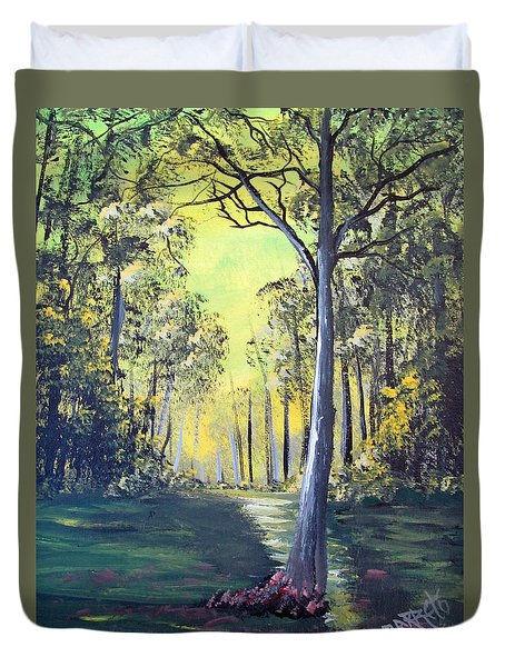 Yellow Forrest Duvet Cover
