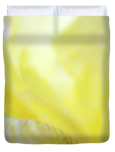 Yellow Iris 2 Duvet Cover
