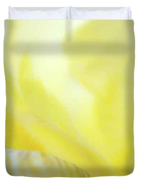 Yellow Iris 2 Duvet Cover