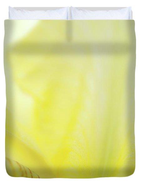 Yellow Iris 3 Duvet Cover
