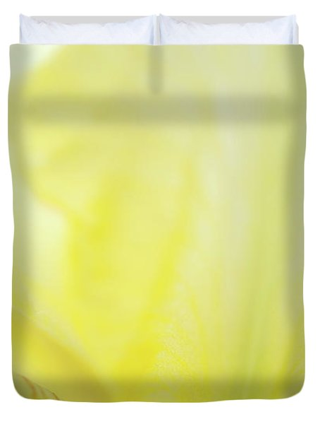 Yellow Iris 3 Duvet Cover