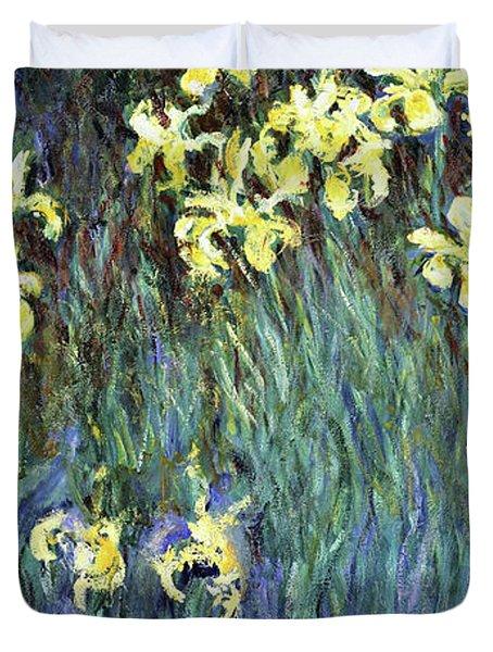 Yellow Irises - Digital Remastered Edition Duvet Cover