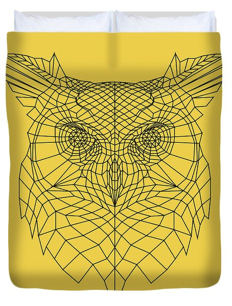 Yellow Owl Duvet Cover