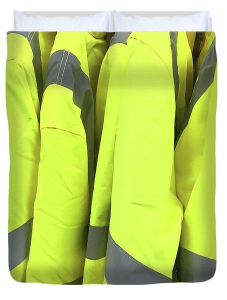 Yellow Reflective Jackets Duvet Cover