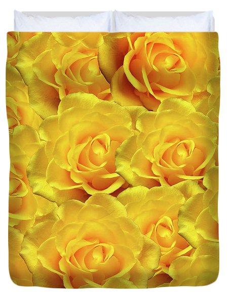 Yellow Roses Art Design Duvet Cover
