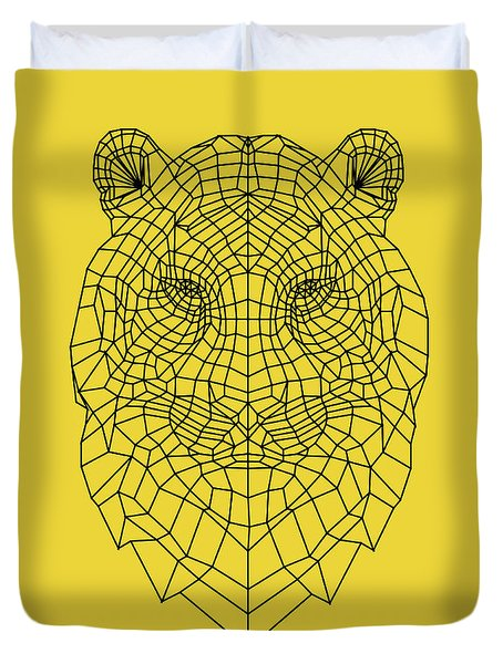 Yellow Tiger Duvet Cover