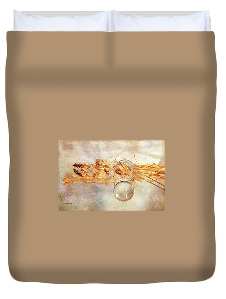 Duvet Cover featuring the photograph Yesterday's Seeds by Randi Grace Nilsberg