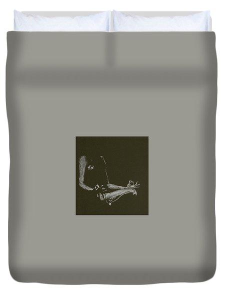 Yoga Position Duvet Cover